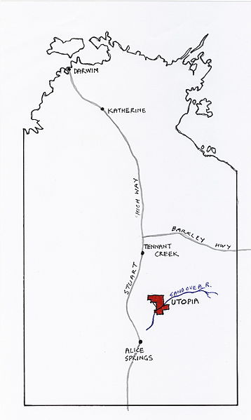 Utopia 350 km north east of Alice Springs